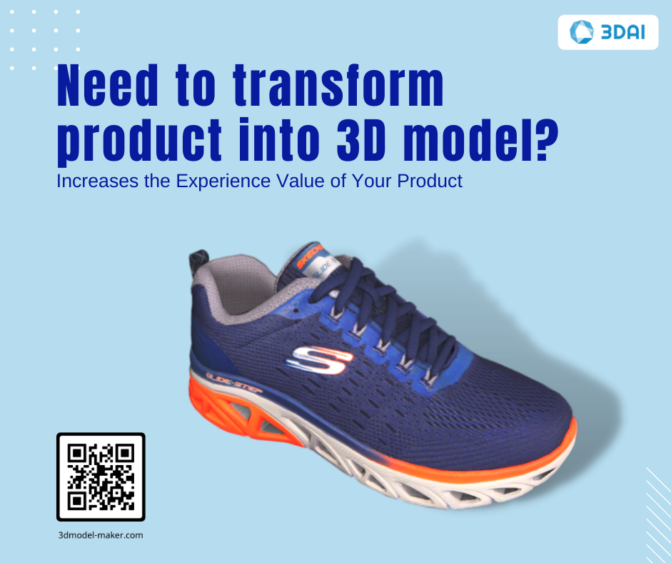 3D modeling services bridge the gap between in-store and online experiences with realistic 3D model